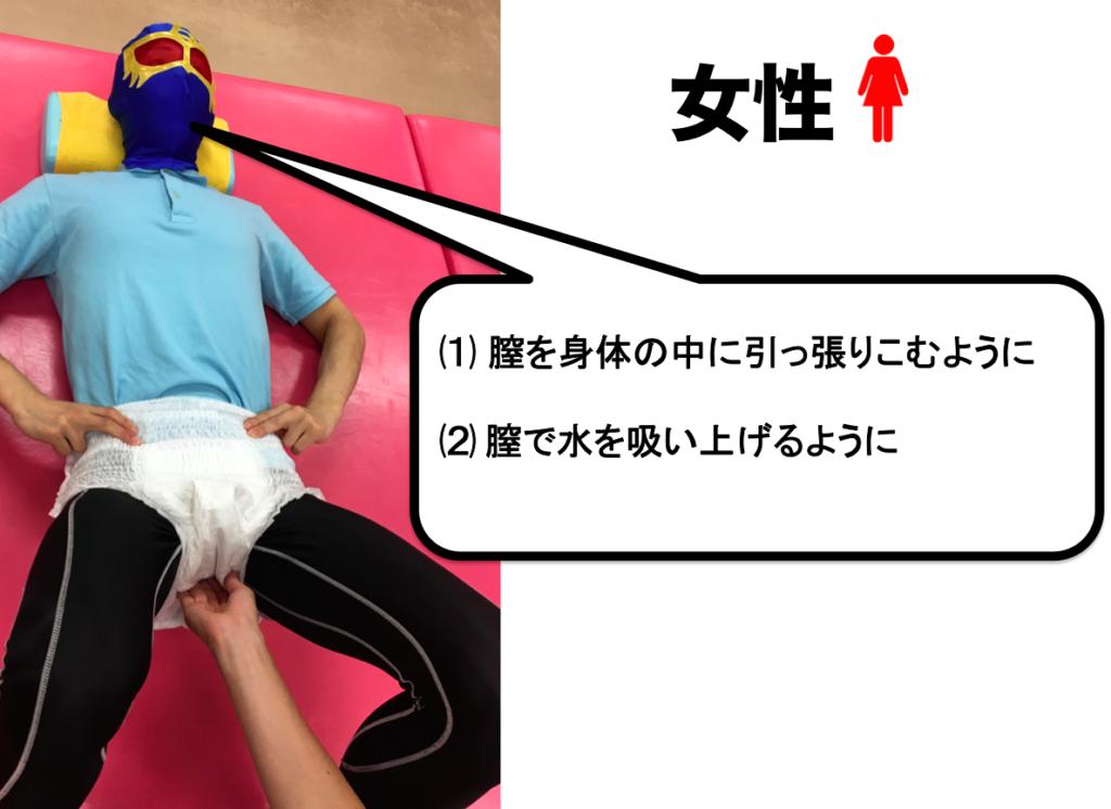 骨盤底筋 鍛える 指示 入れ方 女性