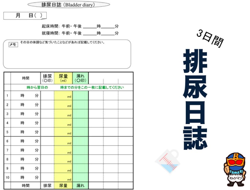 排尿日誌 ダウンロード 無料 尿失禁